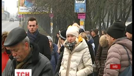Из-за невыплаты зарплаты сотрудники трех трамвайных депо в Киеве проводят забастовку