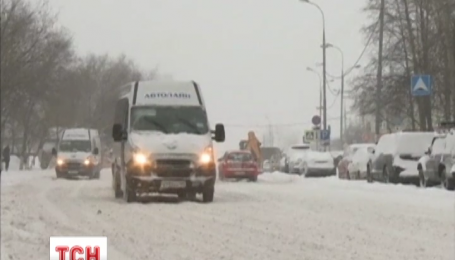 Москва страдает от масштабных снегопадов