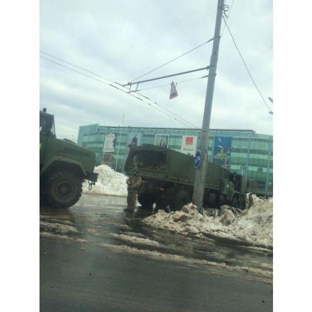 В Одессу вошли колонны Нацгвардии в рамках антитеррористической отработки