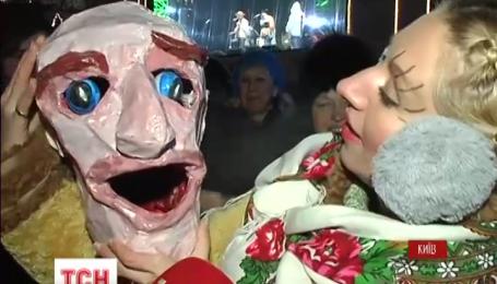 Самую массовую колядку поют тысячи украинцев на Софийской площади