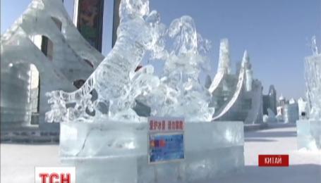 Выставка ледяных скульптур открылась в китайском Харбине