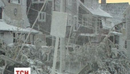 Шторм перетворив Массачусетс на крижане місто