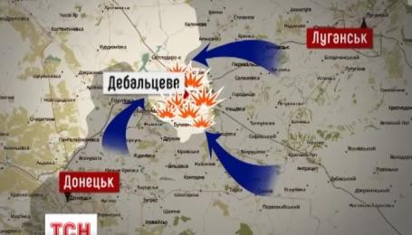 В районе Дебальцево украинские воины уничтожили три десятка танков противника