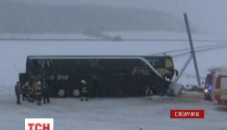 Автобус з українцями потрапив у ДТП у Словаччині
