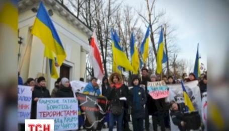 В Варшаве прошла акция протеста против российской агрессии