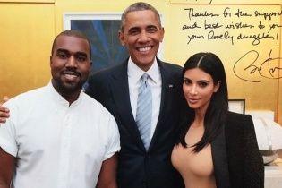 Ким Кардашьян показала фото в объятиях президента Обамы