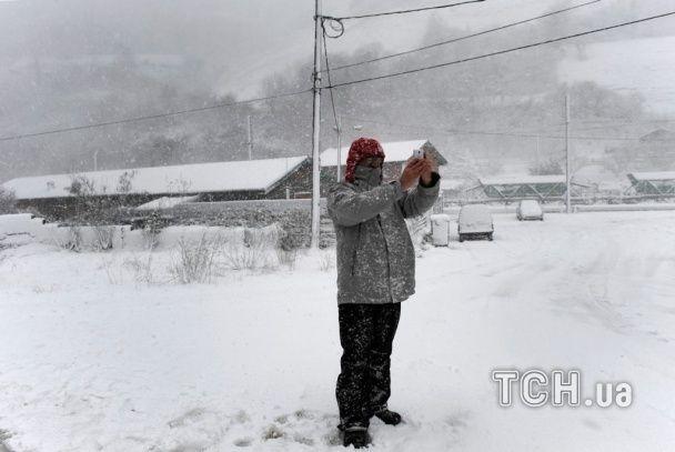 Солнечную Испанию накрыло невиданными снежными заносами