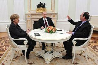 У німецькому уряді розповіли, про що вчора говорили Путін з Меркель і Олландом