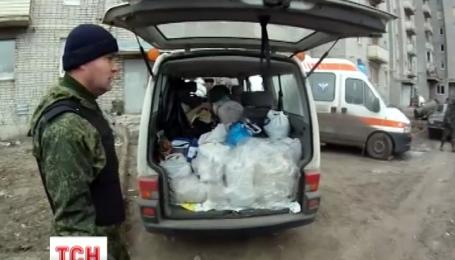 Тонну харчів жителям Авдіївки відвіз дніпропетровський священик