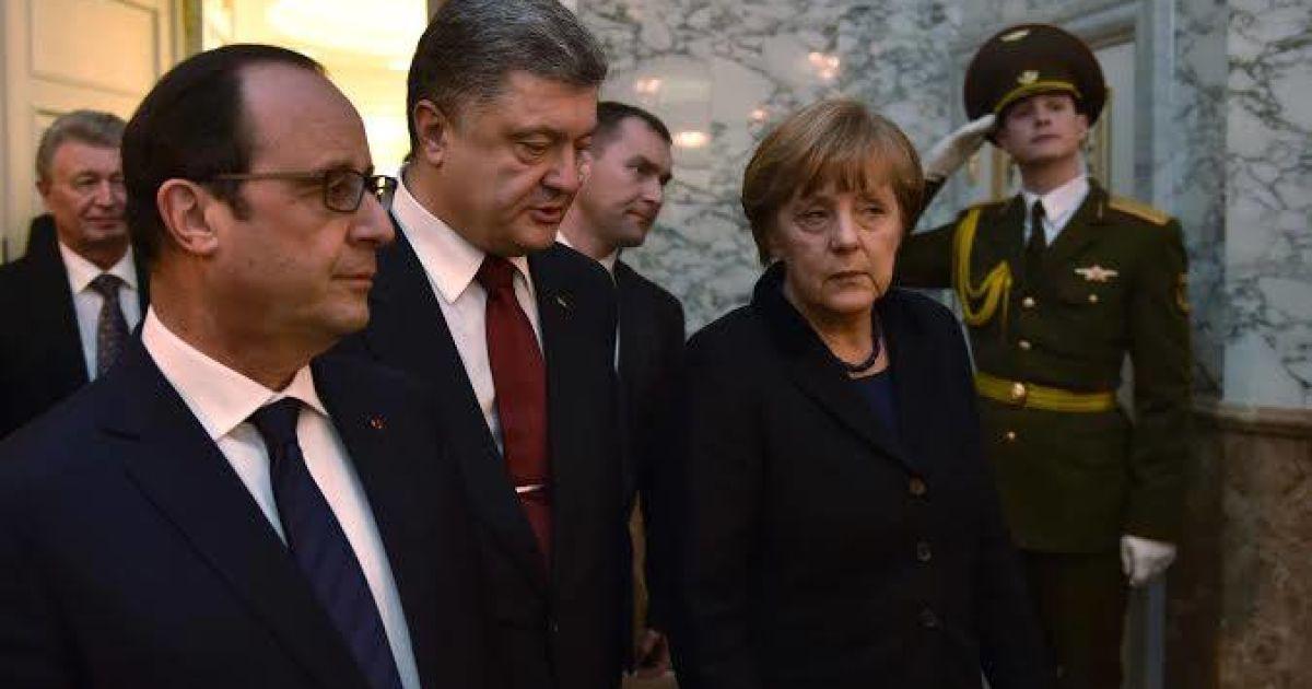 Порошенко озвучил главную тему переговоров с Меркель и Олландом