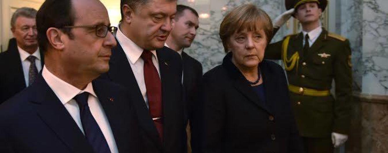 Меркель и Олланд обсудят кризис с мигрантами перед встречей с Порошенко