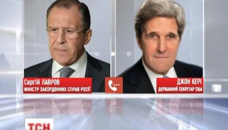 Штайнмайер и Керри призвали Лаврова остановить атаки боевиков