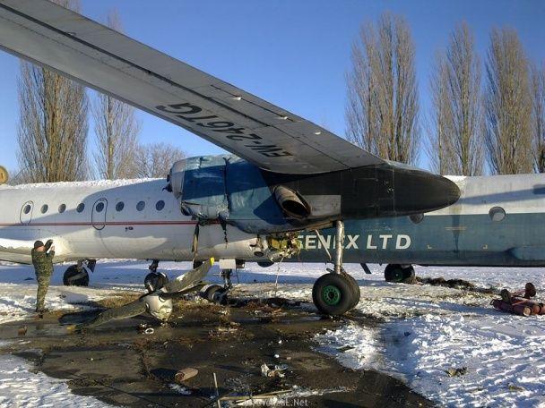 У Борисполі зіткнулися два літаки