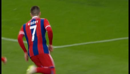 Баварія - Шахтар - 3:0. Відео голу Рібері