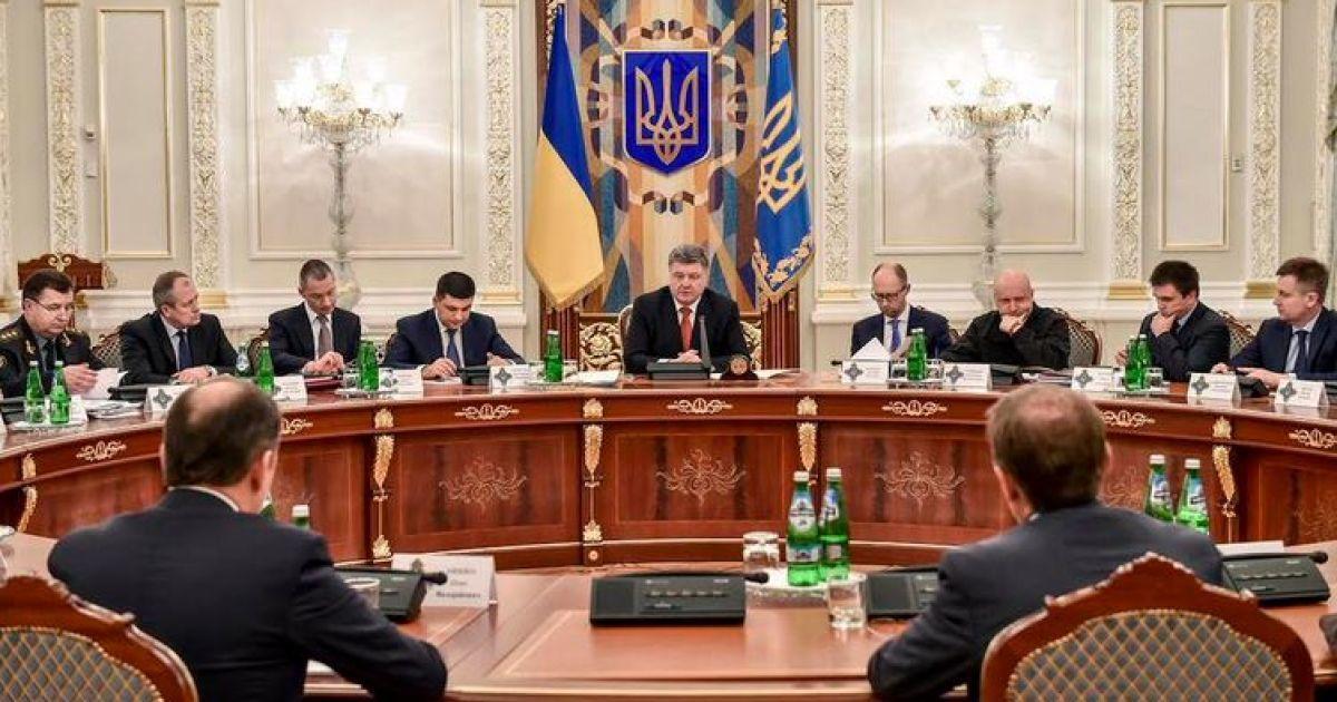 Порошенко анонсував засідання РНБО щодо військового бюджету