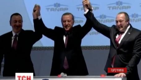 У Туреччині урочисто розпочали будівництво газогону в обхід Росії