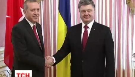 Петр Порошенко встретился с турецким коллегой Реджепом Эрдоганом