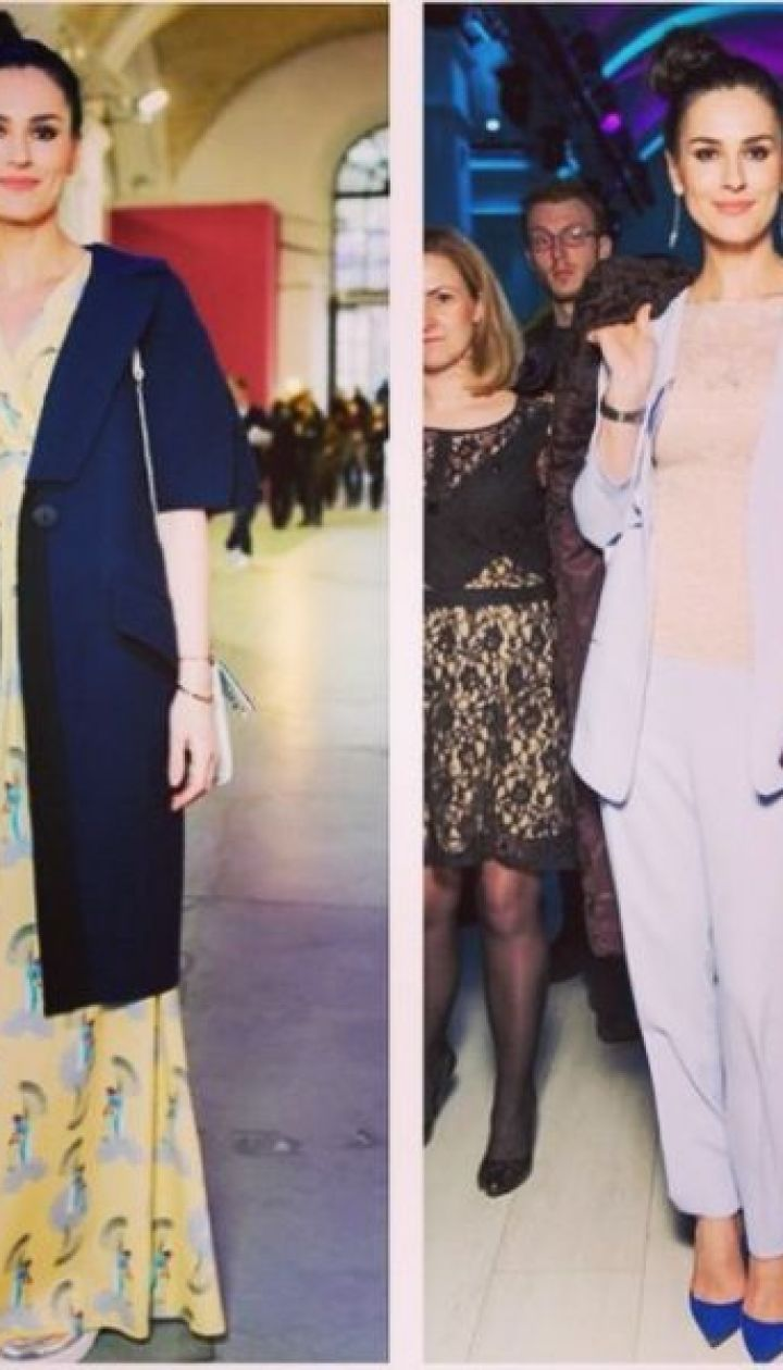 Маша Ефроинина на Ukrainian Fashion Week @ Instagram