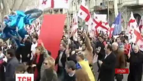 В Тбилиси состоялся антиправительственный митинг