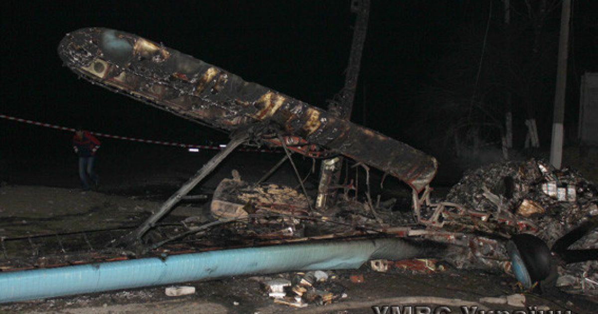 Пилот самолета погиб @ УМВС у Волинській області