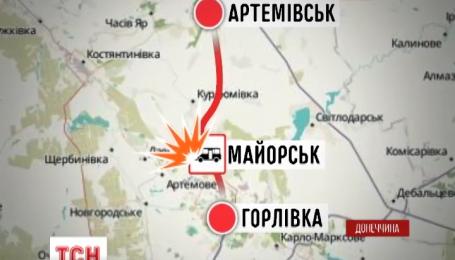 21 человек пострадал от взрыва пассажирского автобуса под Горловкой