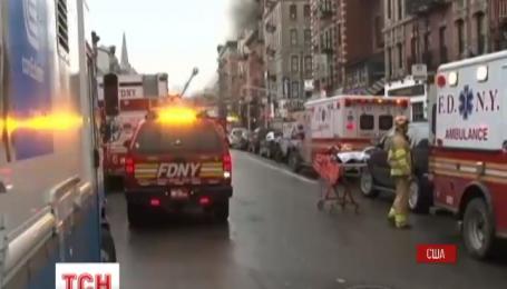 На Манхэттене взорвалась пятиэтажка