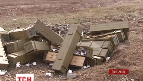 Сапери знайшли розбитий український склад біля Дебальцевого