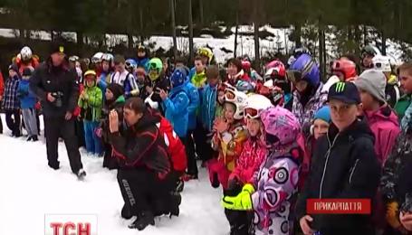 В Буковеле состоялись соревнования по горнолыжному спорту среди детей