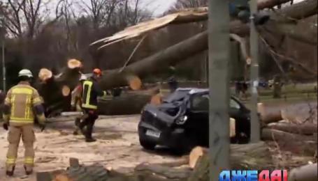 Ураган в Европе забрал жизни троих водителей