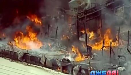 Во Флориде горит завод по производству биодизеля