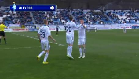 Черноморец - Динамо - 0:1. Видео гола Гусева