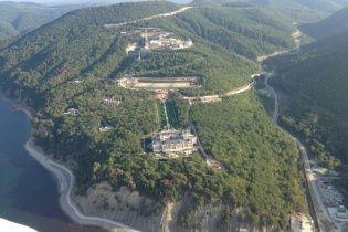 В Сети появилась фотография дворца Путина на берегу Черного моря с высоты птичьего полета