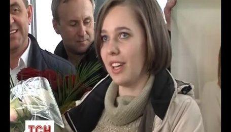 Чемпіонка світу із шахів Музичук повернулася додому після тріумфу в Росії