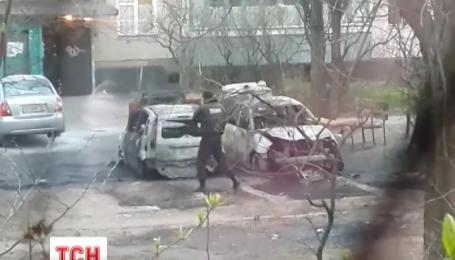 Прошлой ночью в Киеве сгорели два автомобиля