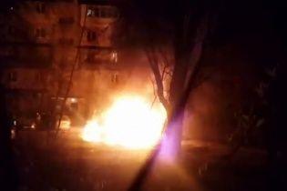 В Киеве ночью сгорели две машины