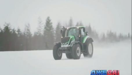 В Лапландии установили мировой рекорд скорости на тракторе