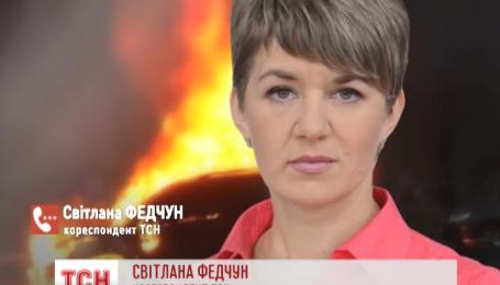 В Харькове сегодня утром сожгли машину, которую планировали передать в АТО