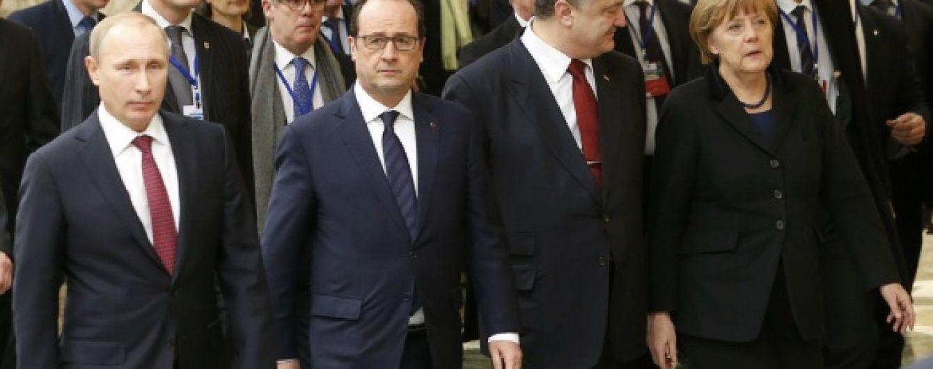 Про що говорили Путін, Порошенко, Меркель та Олланд: Широкине, газ та місцеві вибори
