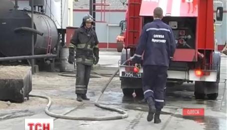 В пригороде Одессы горел асфальтовый завод