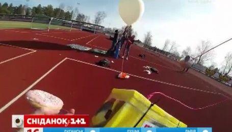 Команда молодых изобретателей из Швеции запустила в космос пончик