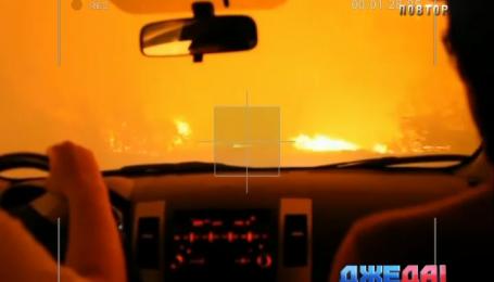 Автомобилисты бежали из Хакасии, преодолевая пятиметровые языки пламя