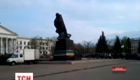 Прошлой ночью в Краматорске снесли еще один памятник Ленину