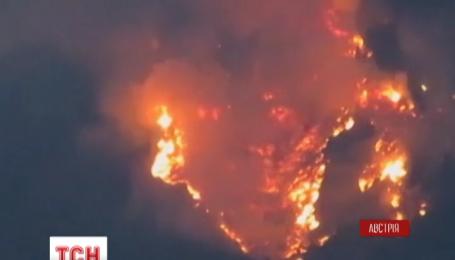 Австрійські ліси палають на висоті двох тисяч метрів