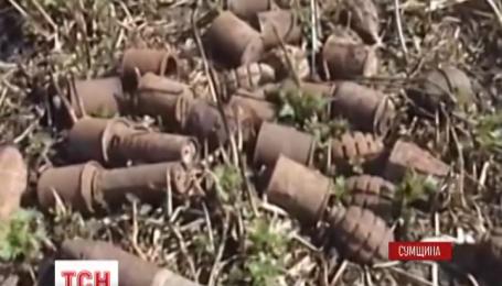 Склад боеприпасов времен Второй мировой нашли жители села Бугроватое на Сумщине