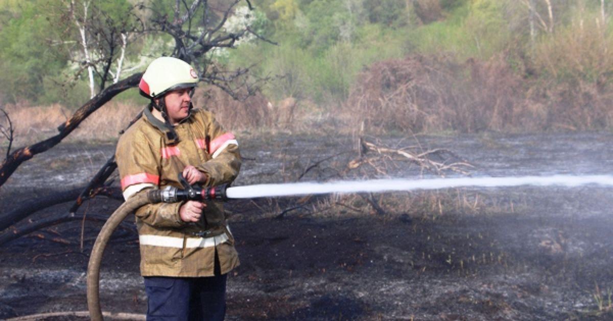 У Бортничах сталася велика пожежа. @ Управління ДСНС Києва