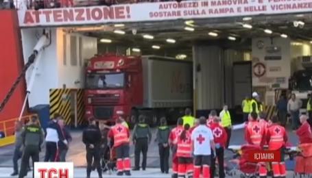 156 пассажиров эвакуировали с горящего парома в Средиземном море