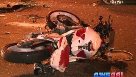 В столице байкер протаранил авто, после чего скончался на месте ДТП