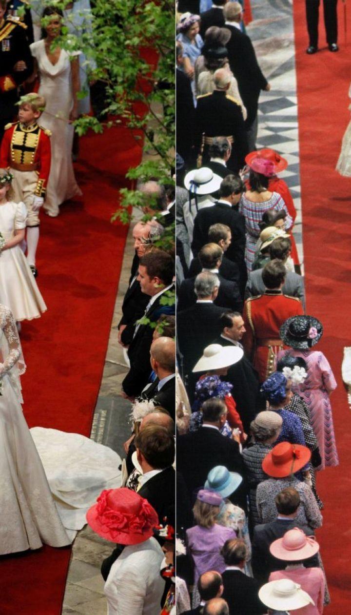 Свадьба Кэтрин и Уильяма в 2011 и свадьба принцессы Дианы и принца Чарльза в 1981 году @ Getty Images