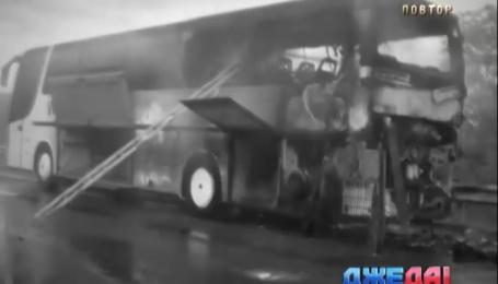 Автобус с туристами загорелся в Закарпатье