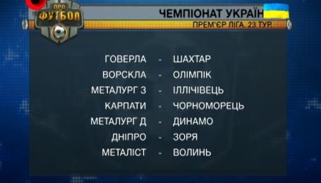 Видео-анонс 23-го тура футбольного чемпионата Украины